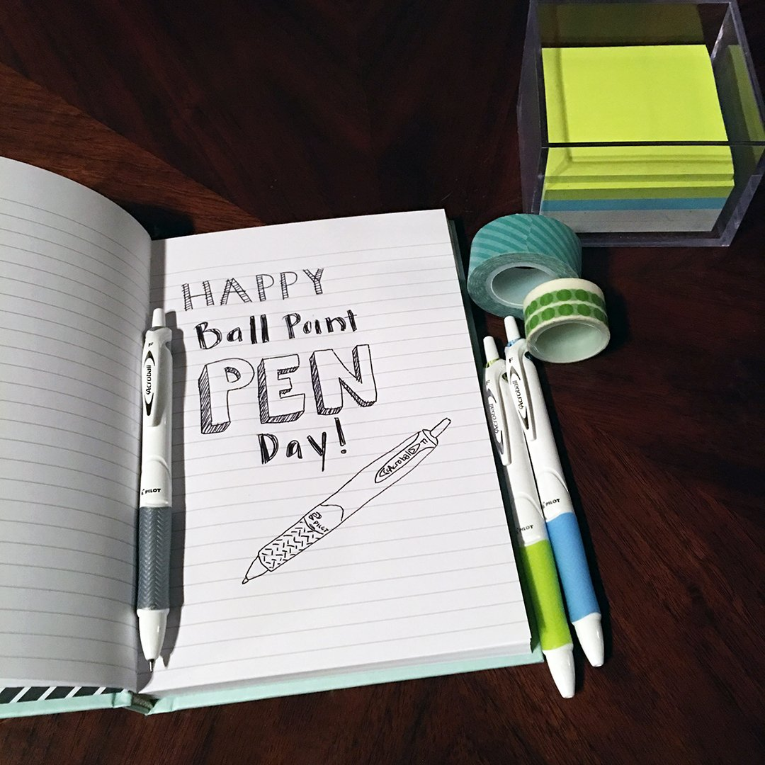 Happy #BallPointPenDay from the guys & girls INNOVATING the ball point pen game! #PowerToThePen https://t.co/fwUm1d4Txd