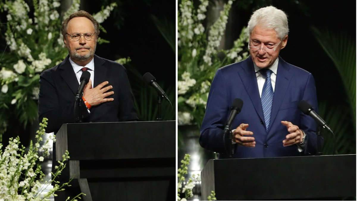 Billy Crystal, Bill Clinton eulogize The Champ at star-studded memorial service