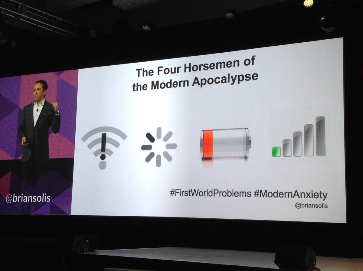 Do u know what's the 4 horseman of the modern apocalypse? @briansolis #linc16 https://t.co/J4E3VuyQA7