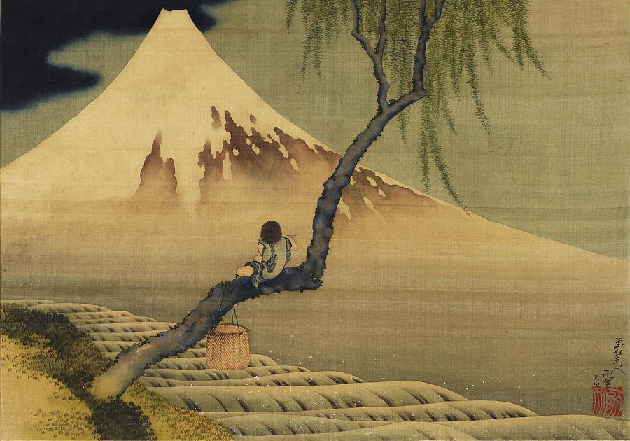 """Cuckoo, tomorrow let's climb over that mountain""  Santoka (Boy viewing Mt. Fuji, Hokusai) https://t.co/b0cVpnxQww"