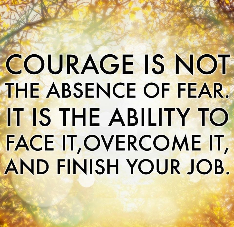 Courage is not the absence of fear. It is the ability to face it, overcome it, and finish your job. #quotes #courage https://t.co/nrXSn8zDRl