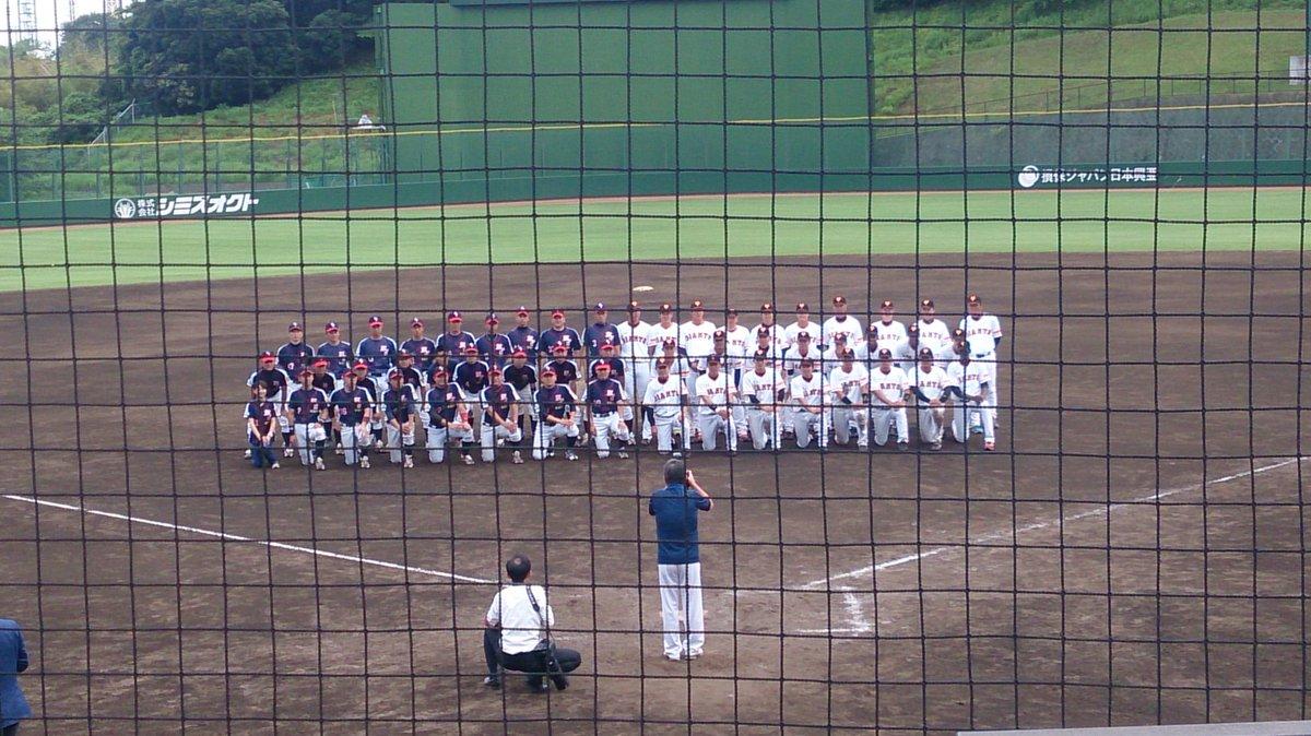 警視庁野球部と巨人3軍の記念写真。 @ ジャイアンツ球場 #MPD_koho #kyojin #giants https://t.co/8zUYA3dn78