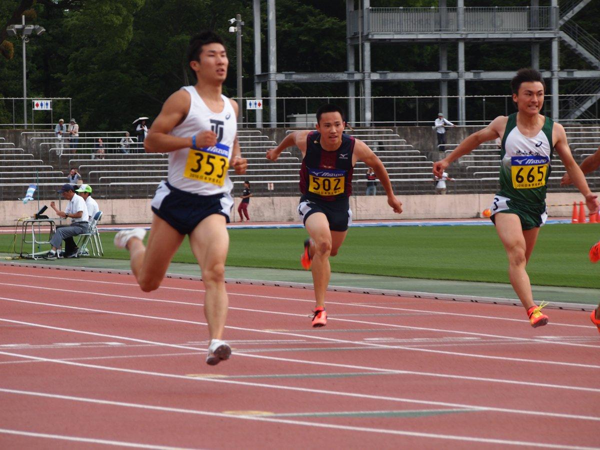 【学生個人】 男子100m準決勝4組において、 桐生祥秀選手(東洋大)が10秒01(+1.8)をマークしました。 この記録は、日本学生新記録、大会新記録、並びに日本歴代2位 おめでとうございます! 決勝は18:00より行われます。 https://t.co/hXc2e8XhAa