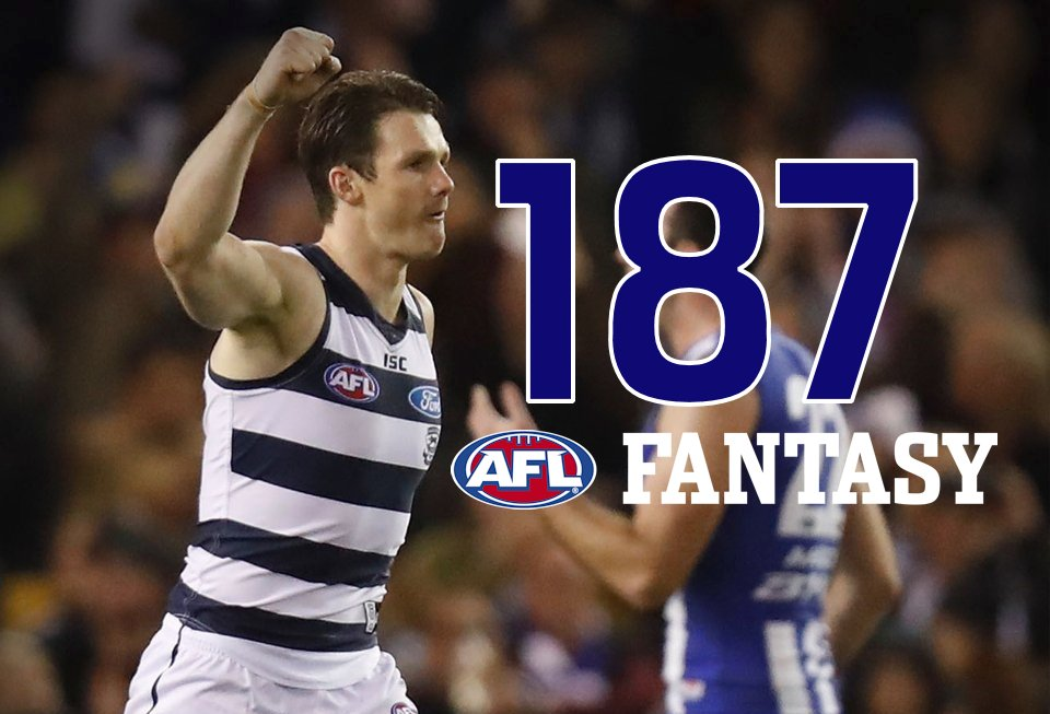 Danger has picked up another 3 #AFLFantasy points in the sheds... his score was 187 for tonight! RT if you have him! https://t.co/xWgqYDeX0o