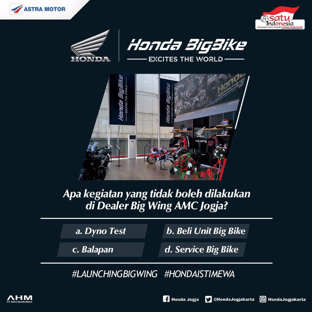 Ini kuisnya #LaunchingBIGWING #HondaIstimewa https://t.co/F9y9vn6DPy