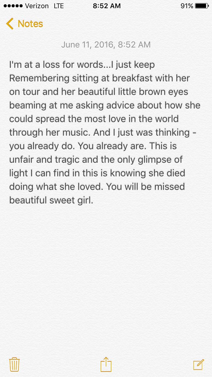 I can't understand this. I can't. You were an absolute shining light Christina and you made your mark. #RIPChristina https://t.co/ixVJJz78iZ