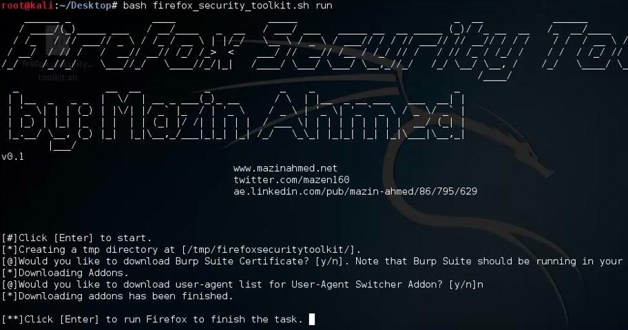 Firefox Security Toolkit: transformará Firefox en una suite de pentesting https://t.co/6O3PfI6ieV https://t.co/g2e5Mf8WJa
