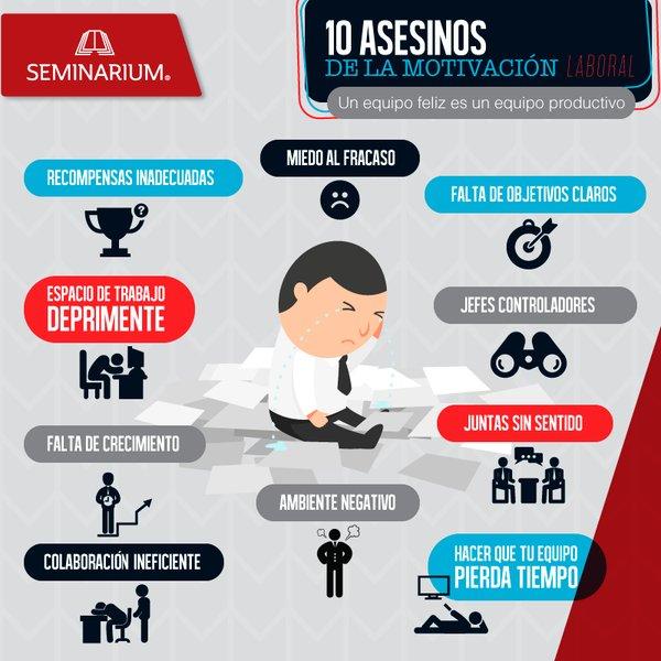 10 Asesinos de la motivación que pueden hacer estragos en tu equipo de trabajo #RRHH https://t.co/asBLtxRnKU https://t.co/oRLz6SLst6