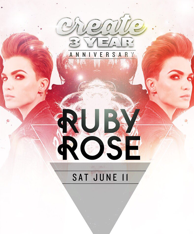 So this is happening tonight! @RubyRose makes her debut at @CREATEnightclub! Tix at https://t.co/yXItZOxgCM https://t.co/KKIXaWMRgz