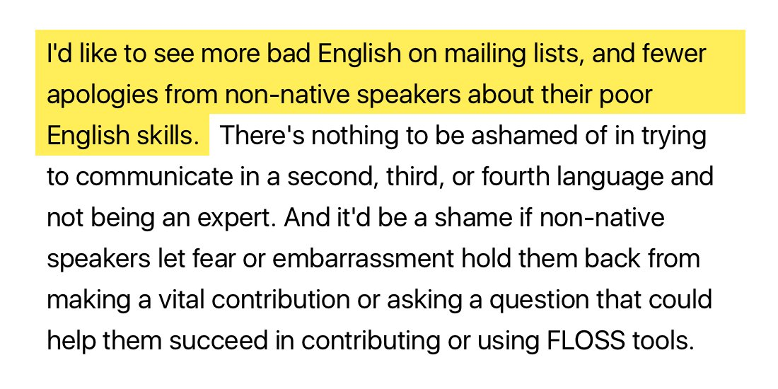 "I love this: ""More bad English, please"". Bad English is way better than no participation. https://t.co/4j1509hJ9F https://t.co/daxrpNYwFv"