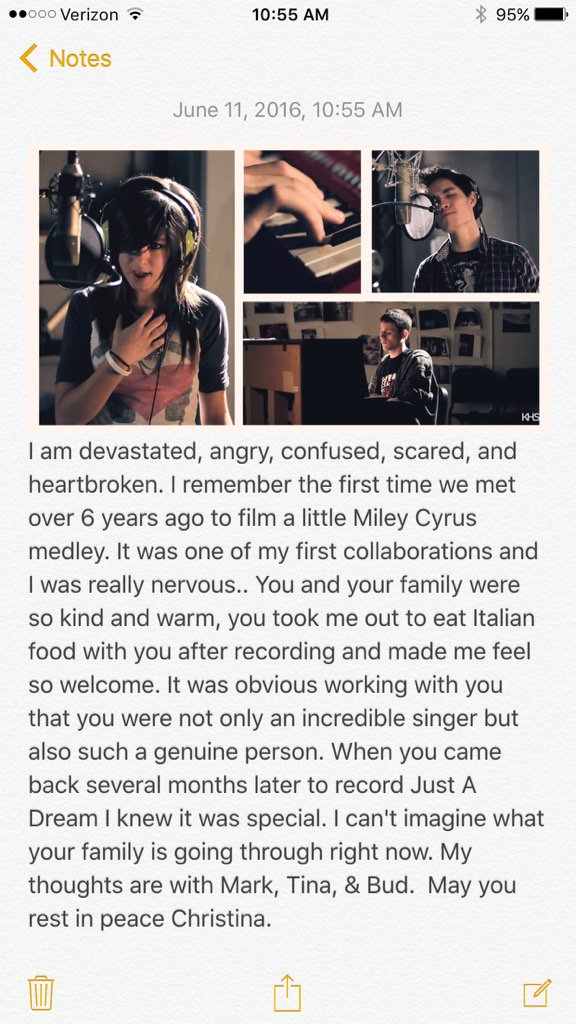 I can't believe you're gone @TheRealGrimmie #RIPChristina https://t.co/b3OeyGK56K