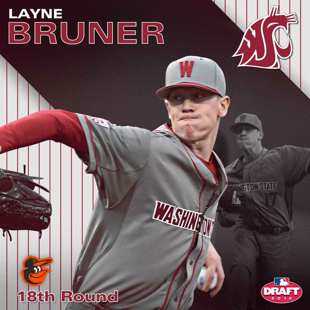 Congrats to Layne Bruner, taken in the 18th round by the @Orioles in the #MLBDraft #GoCougs https://t.co/wI7TZ2if7z