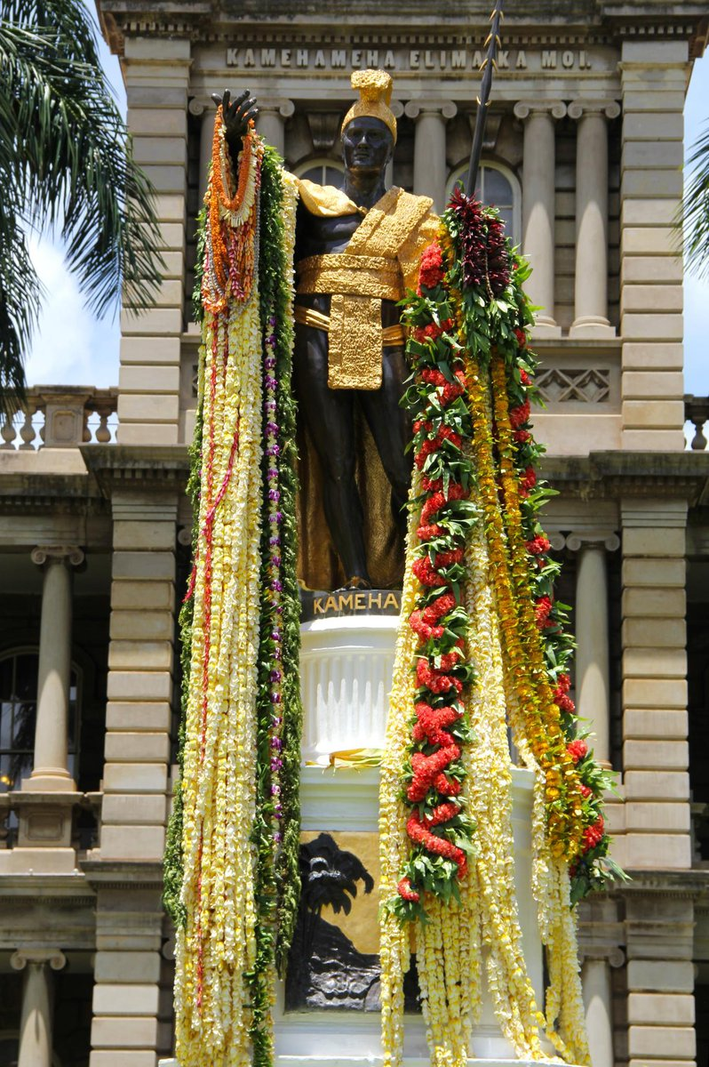 Happy King Kamehameha Day! Today we honor the King who united Hawaii.