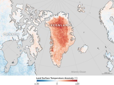 Greenland witnessed its highest June temperature (24C) ever recorded on Thursday https://t.co/a21mVdOVDe https://t.co/4wieHqnDUw