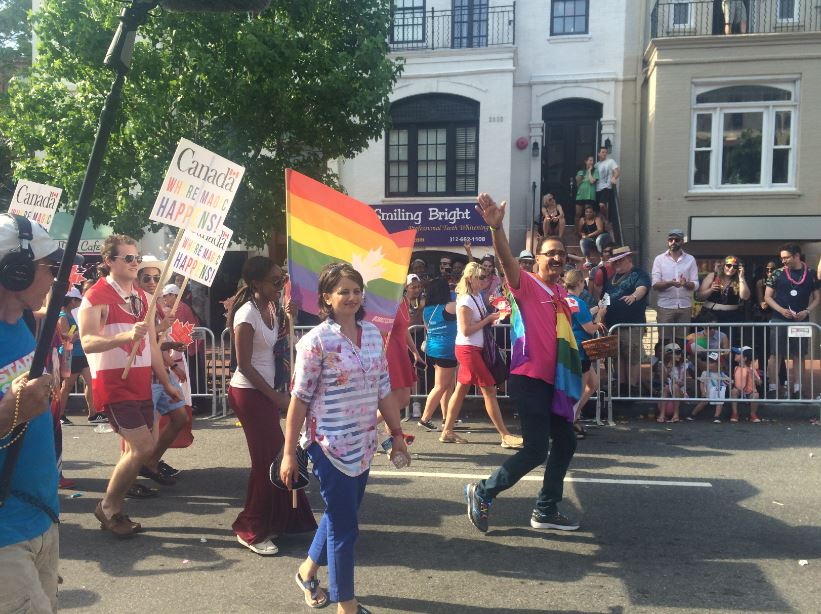 Proud to march in the #CapitalPride parade! #MakeMagicHappen #LoveIsLove https://t.co/EQhpBWMjkE