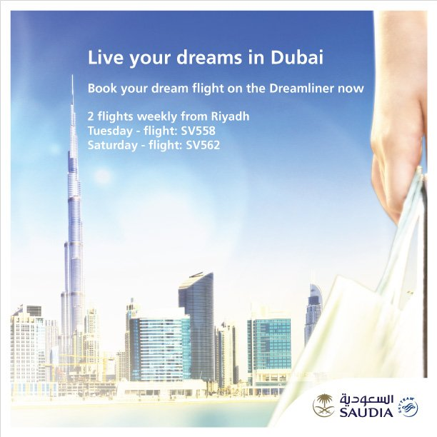 Live your dreams in Dubai Book your dream flight on the Dreamliner now  Book