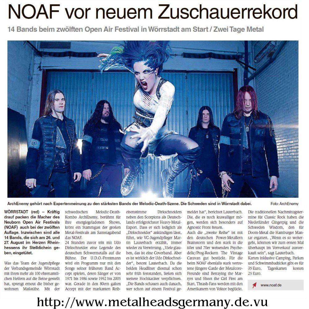 #Alzey er Wochenblatt VorBericht #metal #Festival NOAF 2016 #GER #RLP #metalheads #metalgirls #Germany #archenemy https://t.co/lhH7Lnp4Rt