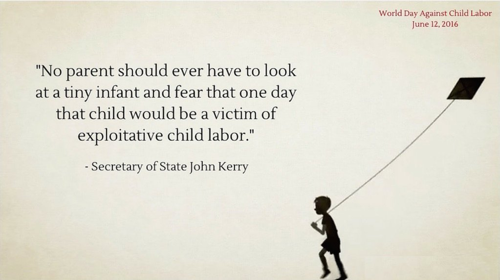 168 million children are involved in #childlabor worldwide, working instead of learning. @ilo @IntLaborRights https://t.co/X6A5qOXclj