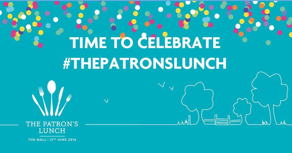 We are delighted to be taking part in our Patron's @ThePatronsLunch celebrations #Queenat90 #ThePatronsLunch https://t.co/PGuVBCOHqx
