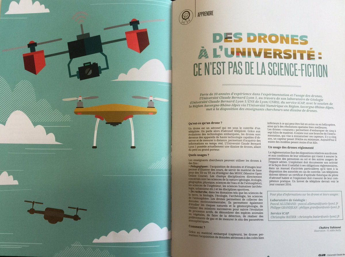 C'est parti! On lance un service de #drone pédagogique à @UnivLyon1 https://t.co/WmcmzO17sv