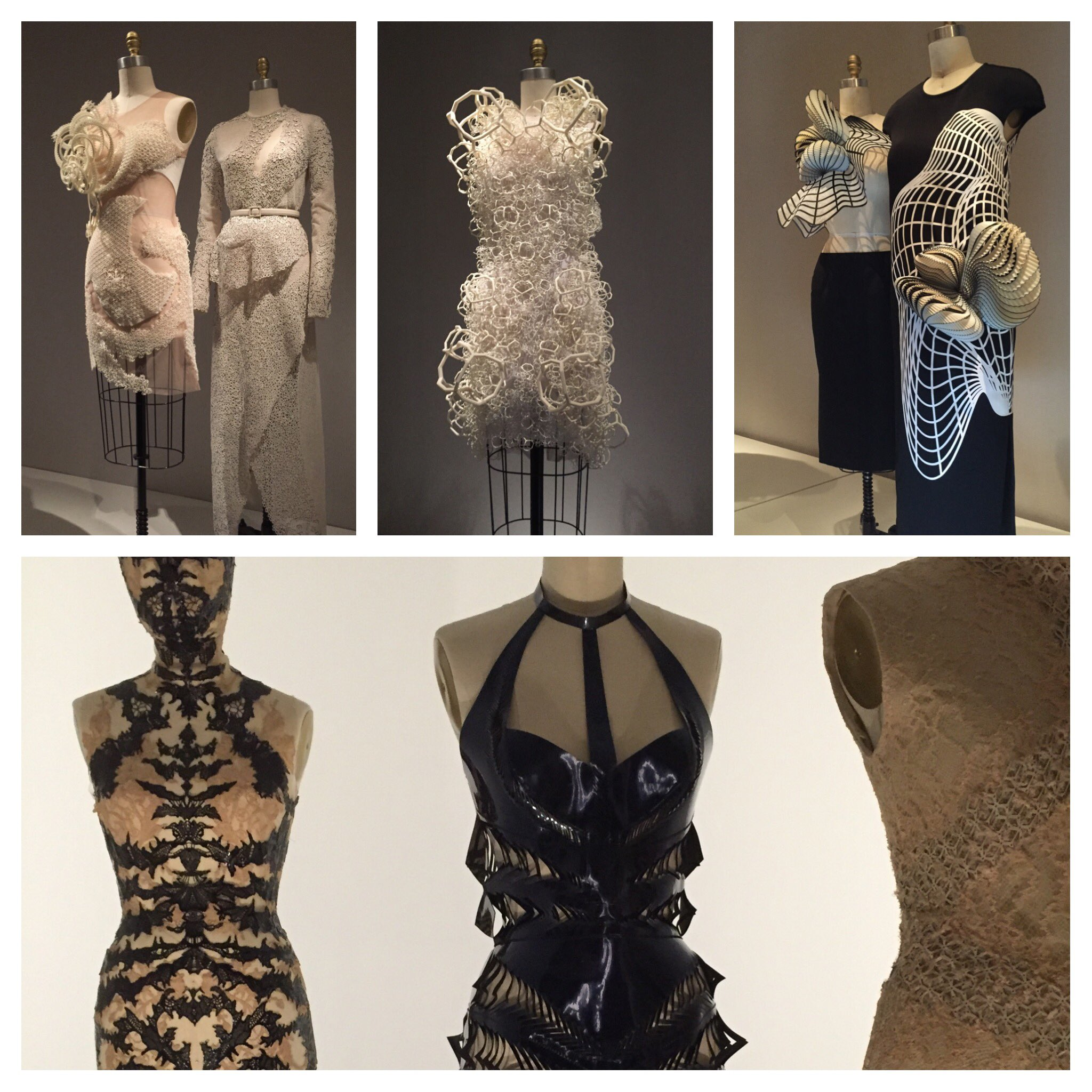 Great exhibition @metmuseum on #fashion and #technology like #3dprinting #lasercut #FashionTech https://t.co/cSj7RgSHJO