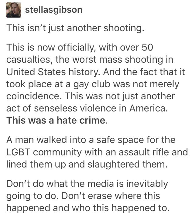 As news reports continue to leave out the fact that this shooting occurred at a gay bar, please keep this in mind https://t.co/s9qNGpBbCl