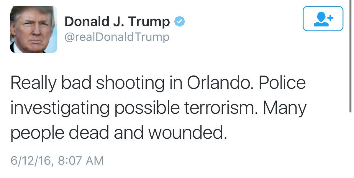 How the two presumptive presidential nominees responded to this morning's shooting in a gay Orlando nightclub https://t.co/gVTBomrUAQ