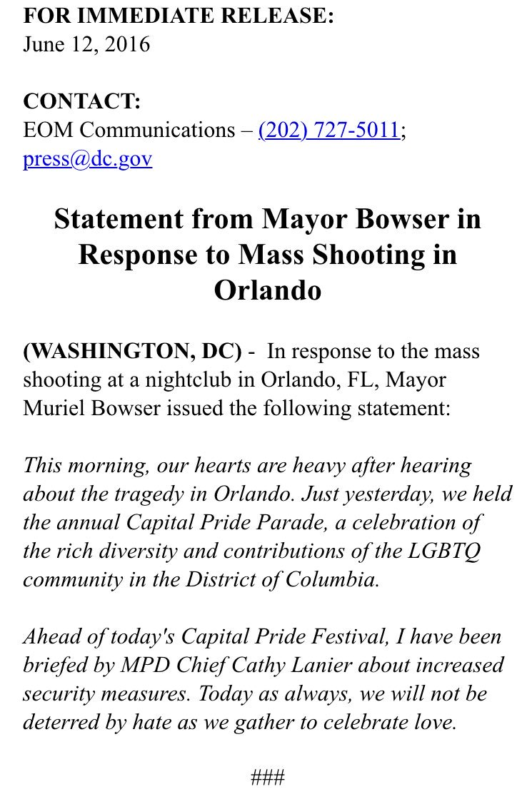 This morning, our hearts are heavy after hearing about the tragedy in #Orlando... We will not be deterred by hate. https://t.co/YjItWOOIC2