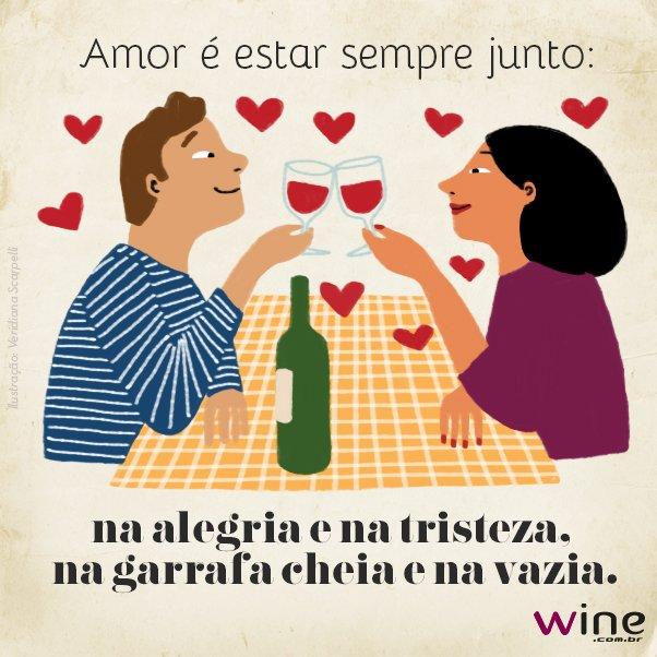 O amor não precisa de muitas provas, mas uma garrafa de vinho compartilhada pode ser uma delas. <3 #DiadosNamorados https://t.co/TIrtbsdV6r