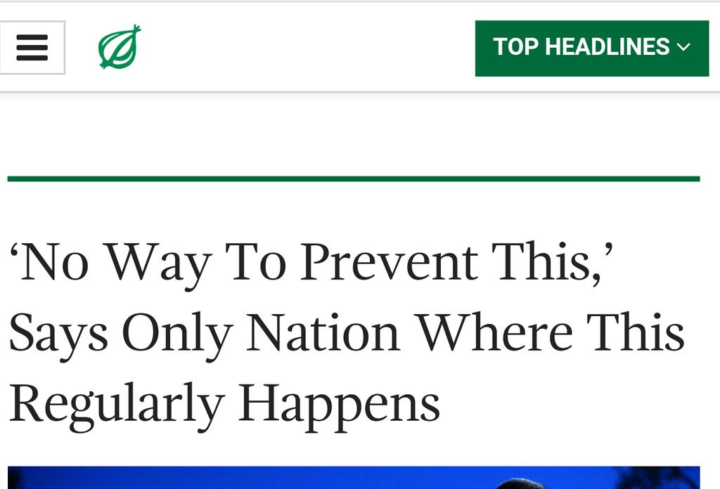 I tweet out this headline from The Onion after every mass shooting. What an ugly truth. https://t.co/GvpCriFOIc