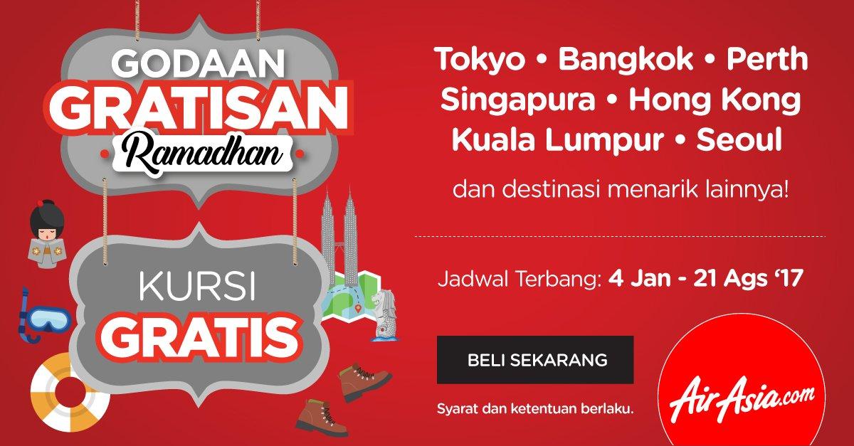 Kursi Gratis AirAsia sudah di buka dari sekarang! buruan beli ya di