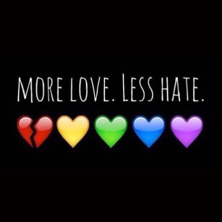 50 dead: the US's biggest mass shooting appears to be a hate crime. We must preach more love. Less hate. #Orlando https://t.co/QmRdAPVRGW