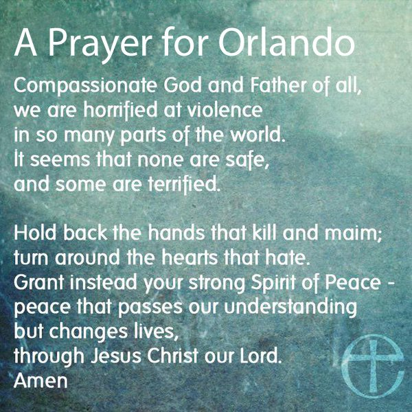 Prayers for #Orlando #pulse #prayersfororlando https://t.co/Fh8e2li96B
