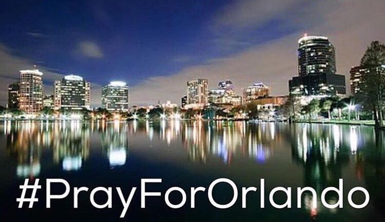 Our thoughts & prayers are w/ all of the victims & all affected by last night's shooting in Orlando. #PrayForOrlando https://t.co/DnWlfSvpuX