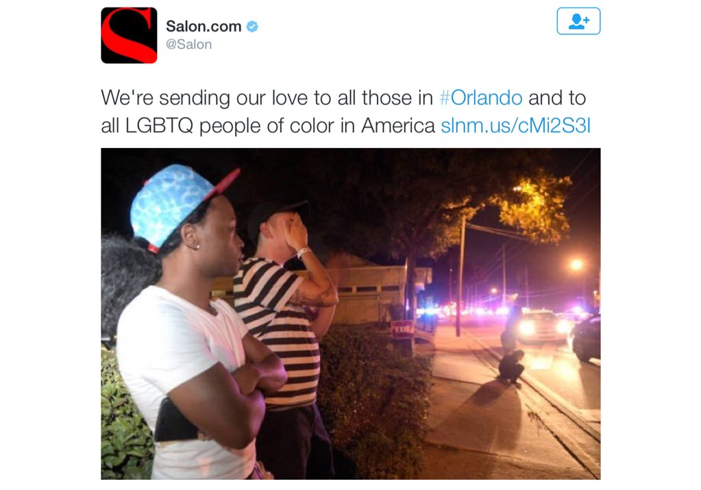 A big fuck you to white gay folks from Salon. #orlando https://t.co/HN2v621VwT
