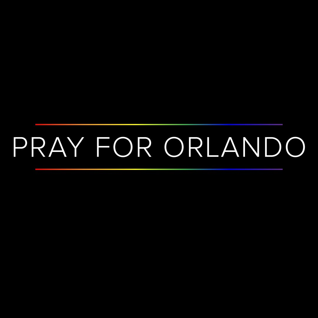 Our thoughts and prayers are with the family & friends of the victims of the Orlando mass shooting #PrayForOrlando https://t.co/MvEuGChTgW