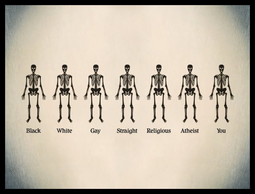 Why is being different a crime? We're all the same.. Spread love not hate.