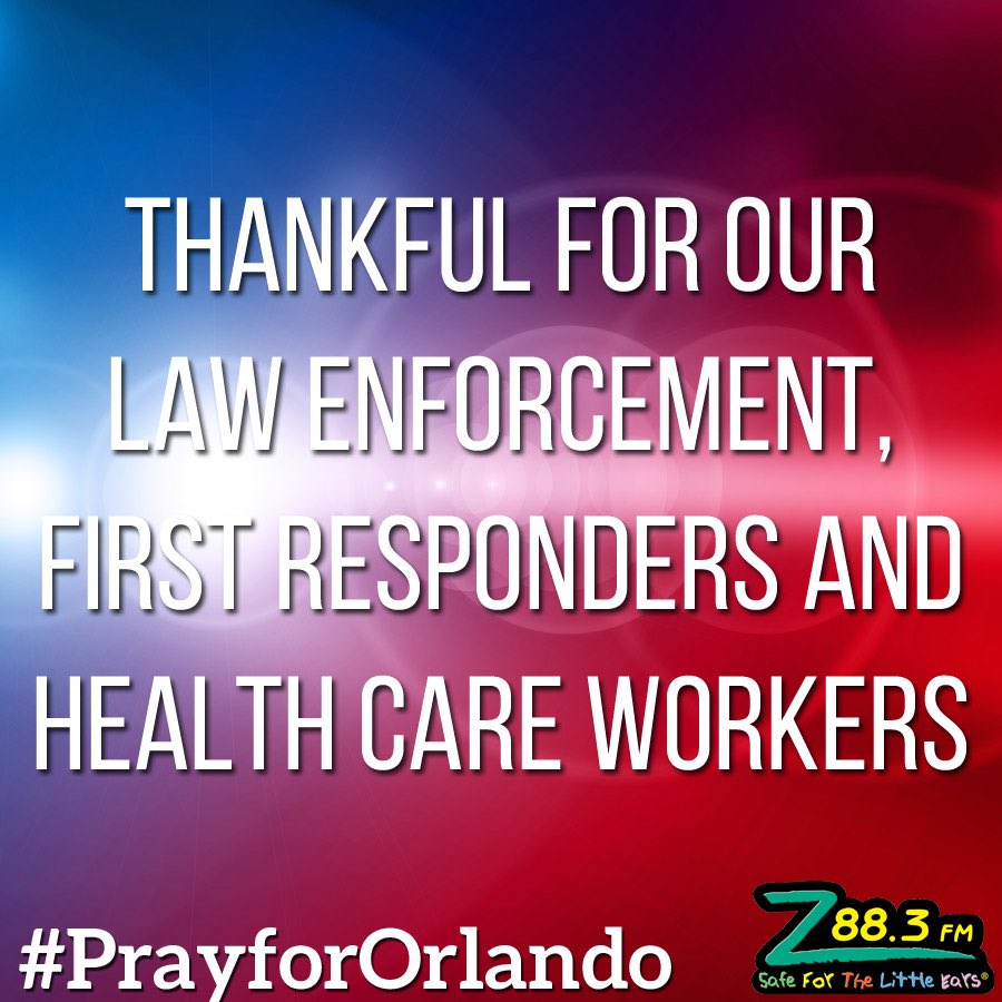 So thankful for our angels who were thrown into the front line overnight. #PrayforOrlando https://t.co/6ZvYzGLZUO