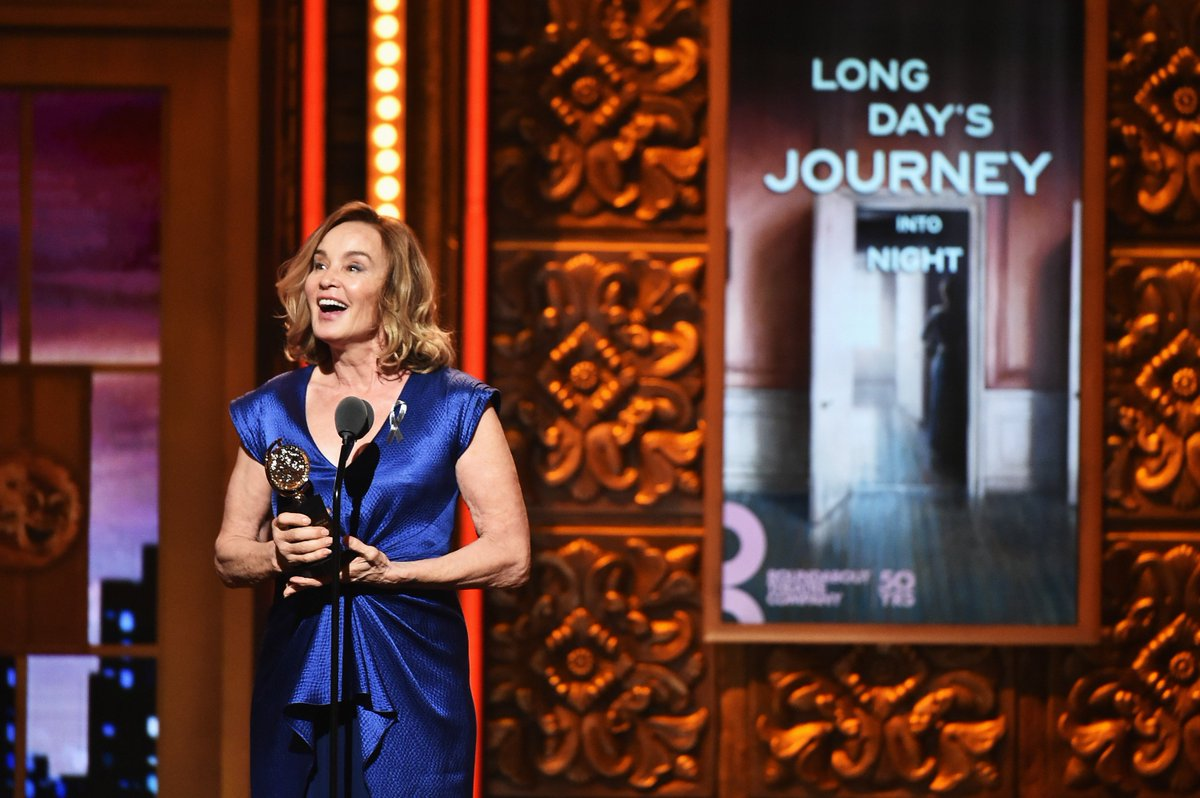 TonyAwards backstage: Jessica Lange says