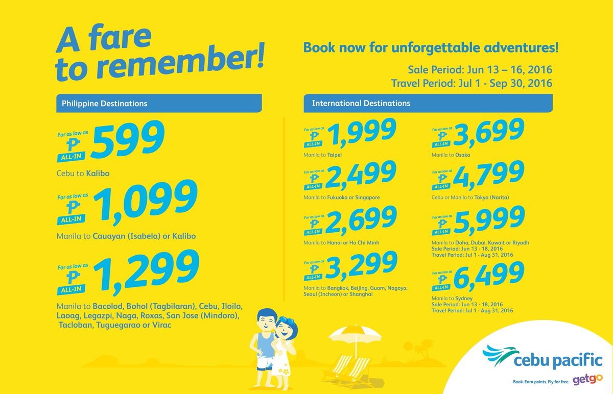 Go on JUAN memorable adventure after the next with the new CEBSeatSale! Book now!