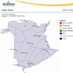 DNR confirms forest fire situation near Bouctouche #NB. Its categorized as out of control according to map: https://t.co/vdLve5uIEb