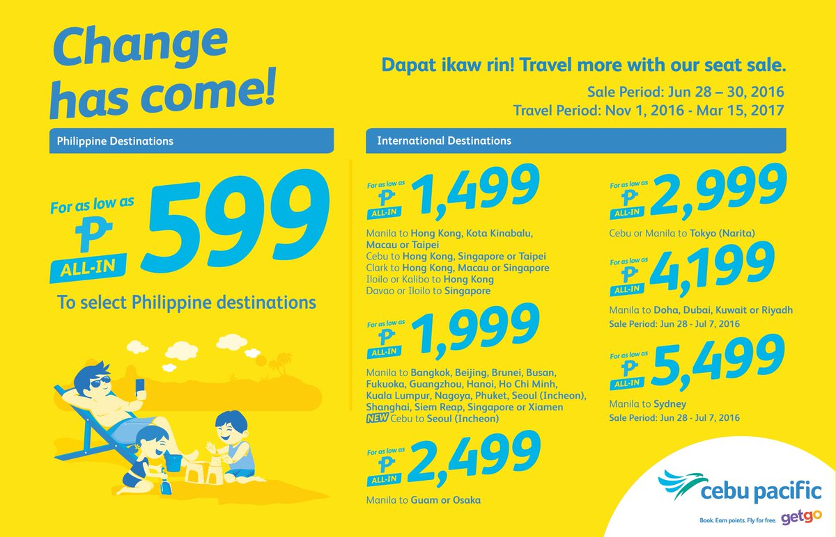 Change has come! Book now until June 30 and travel more with our new CEBSeatSale!