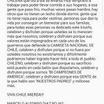 Buenos dias, buenas tardes mi querido CHILE. https://t.co/PNZ2VNgQgi