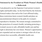 """President Obama """"pleased"""" by SCOTUS decision on abortion: https://t.co/xTYvcc3BNs"""