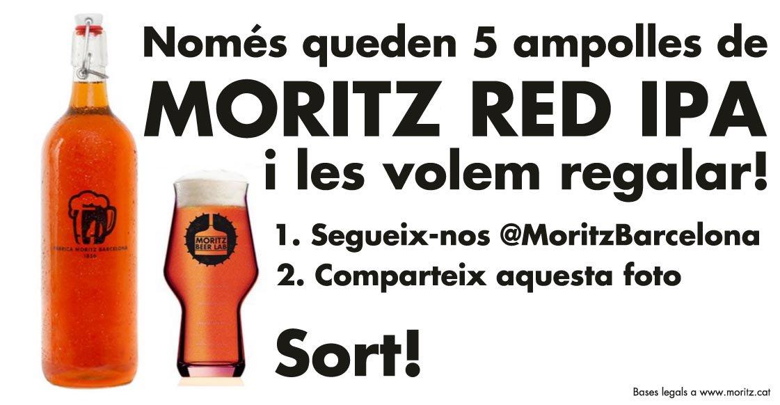 Regalem les últimes 5 ampolles de Moritz Red IPA, la primera creació del #MoritzBeerLab. Salut! https://t.co/GVWeqH6tUZ
