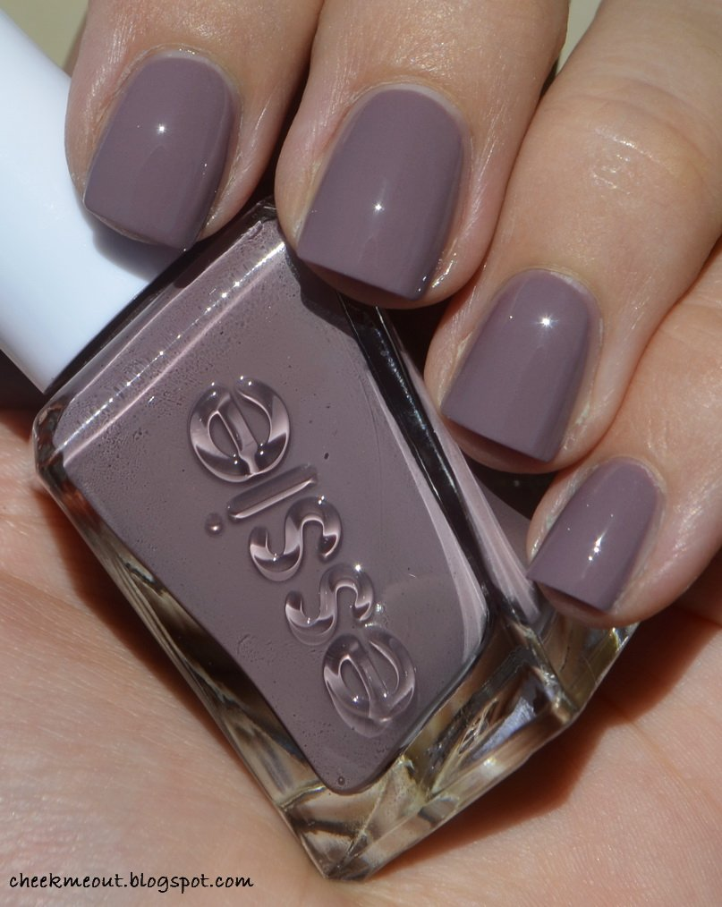 manimonday wearing @essie gel couture take me to thread. one word ...
