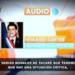 ".@Horacio_Cartes minimiza situación del Pilcomayo ""Tenemos varios modelos de yacaré"", manifestó #MeridianoPy https://t.co/SJxugQoK1w"