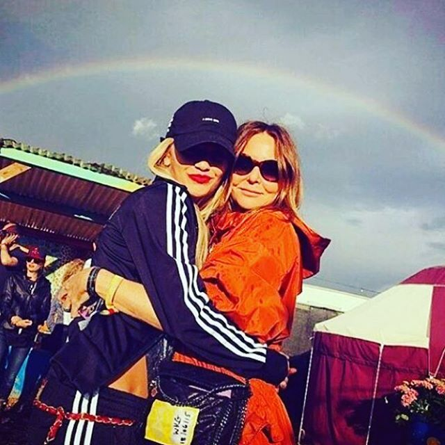 Rainbow @StellaMcCartney #glasto2016 https://t.co/k5KNTCeLon