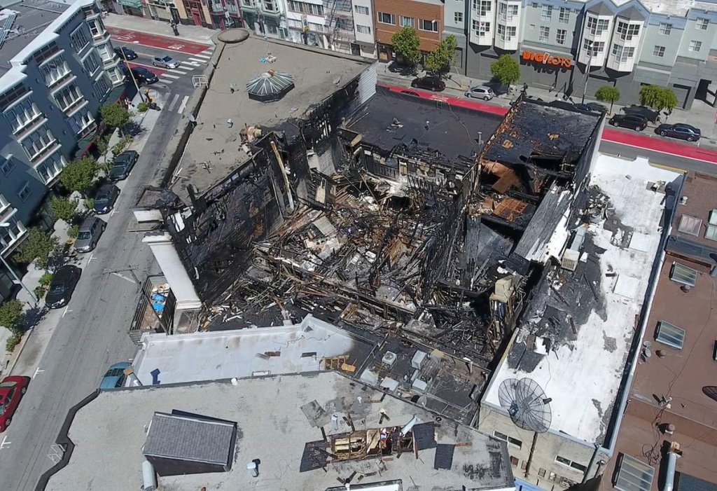 Aerial Photo Reveals Devastation from Mission Street Fire https://t.co/klBLsC19NQ https://t.co/exPrk7sawv