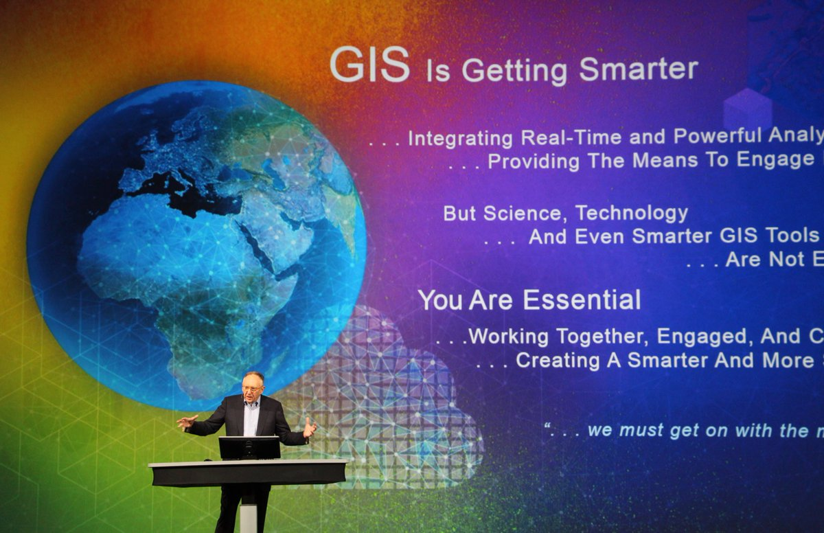It's not about mapping the world. It's about coming together to map a more sustainable world. #EsriUC #FutureOfSmart https://t.co/t67QBXsZzv